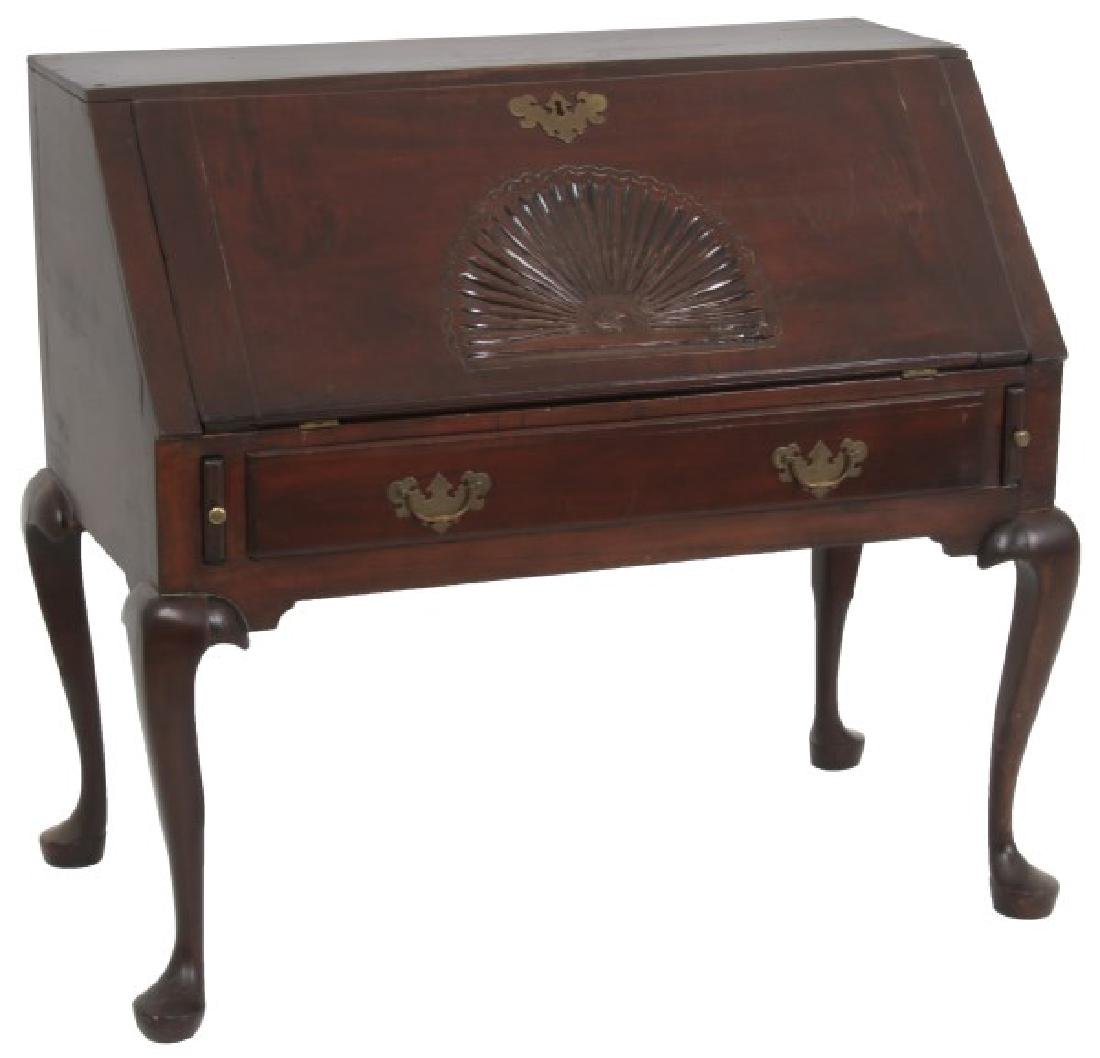 Period Queen Anne Mahogany Slant Front Desk