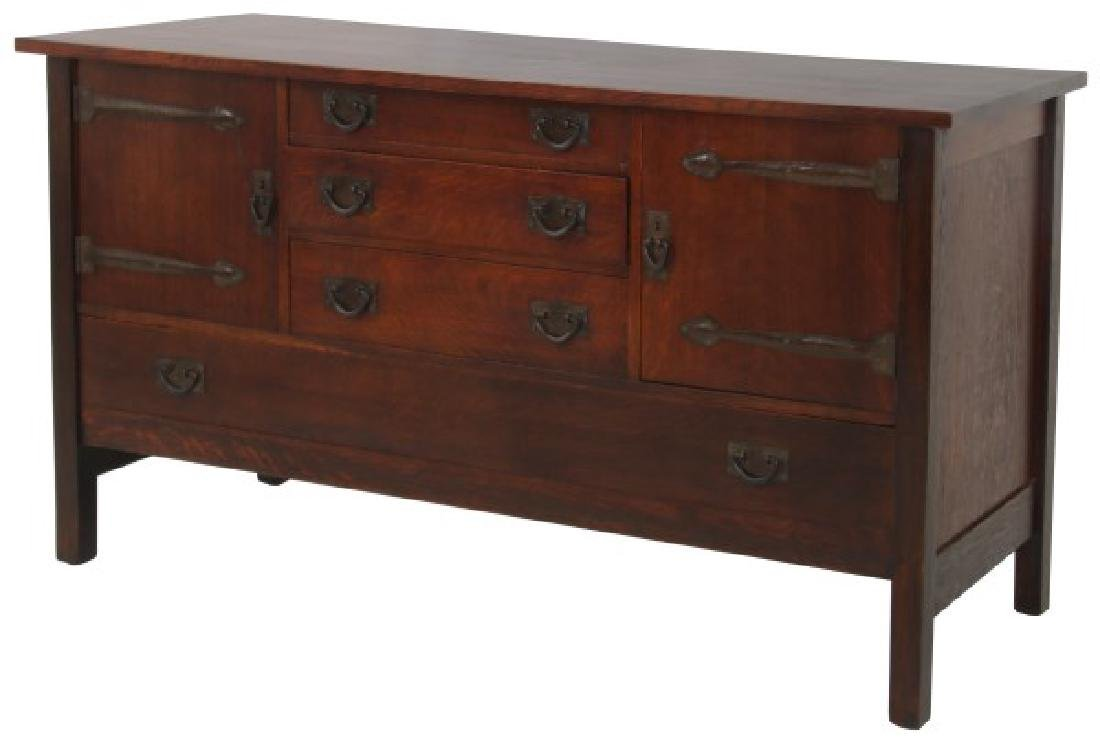 Oak Gustav Stickley Craftsman Sideboard