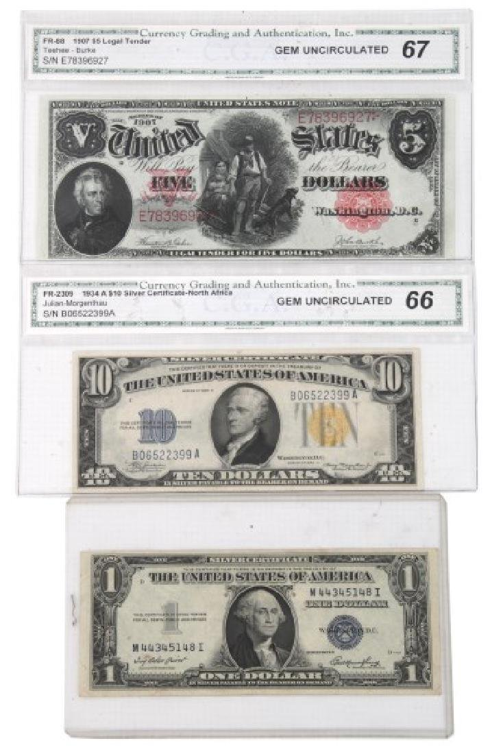 1907 Legal Tender, 1934 & 1935 Silver Certificate