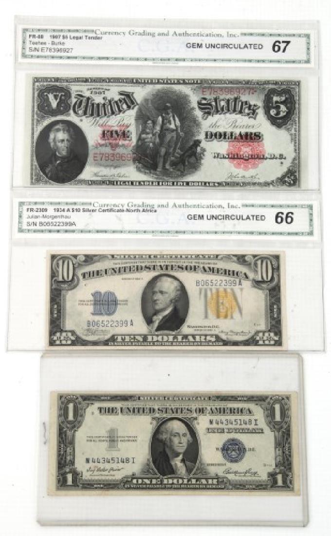 1907 Legal Tender, 1934 & 1935 Silver Certificate - 6