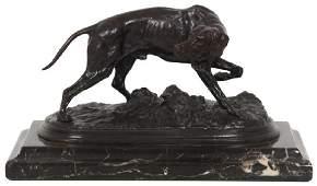 P.J. Mene Bronze Hunting Dog Sculpture