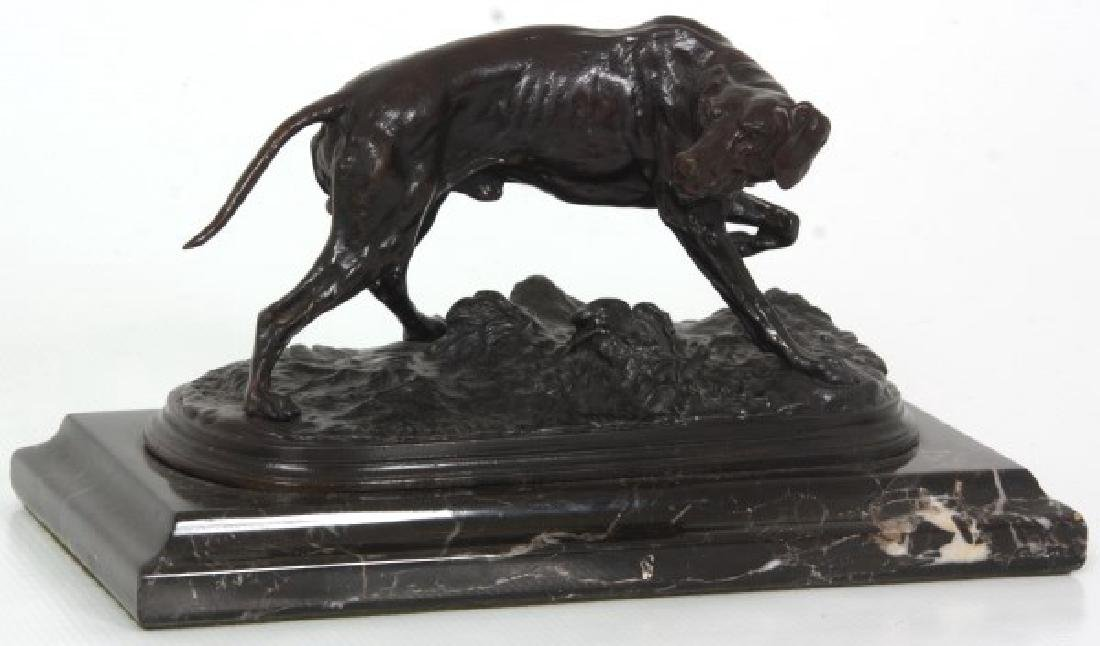P.J. Mene Bronze Hunting Dog Sculpture - 2