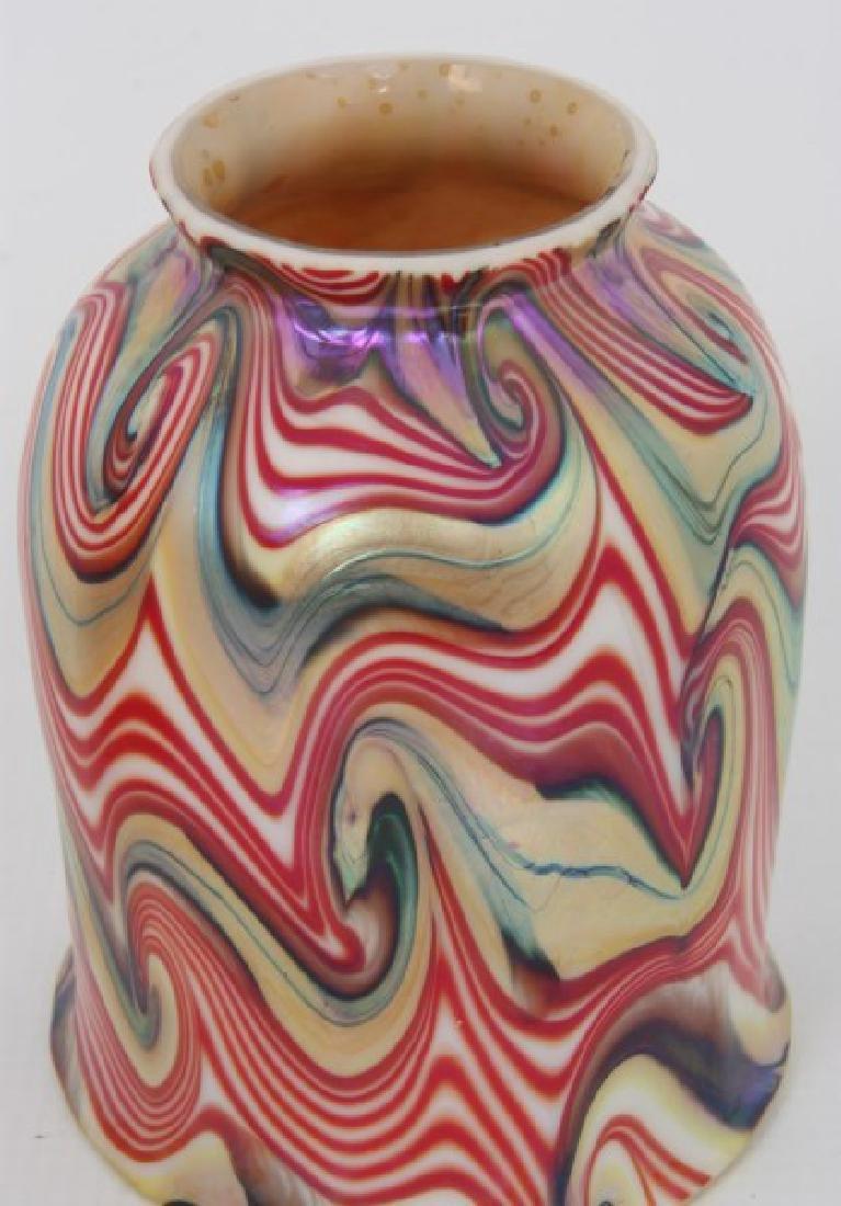 Rare Pr. King Tut Art Glass Shades - 5