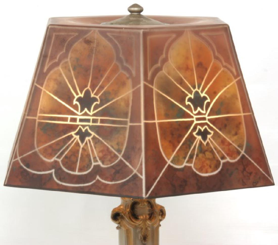 16 in. Jefferson Reverse Painted Table Lamp - 5