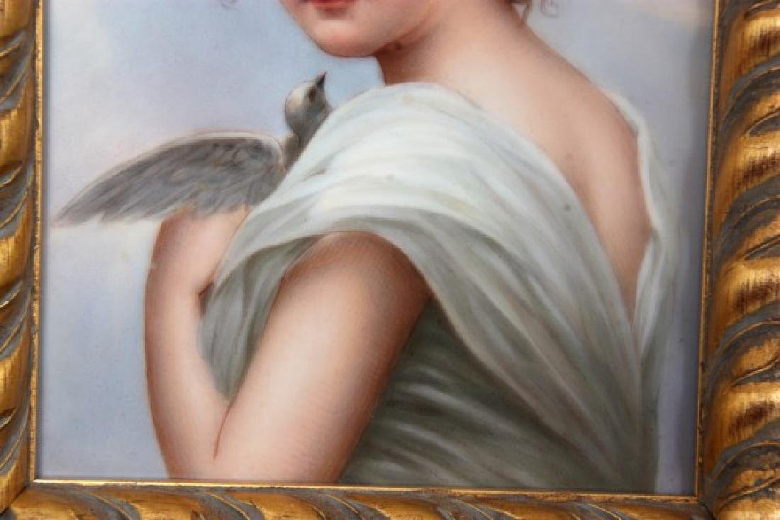 German Porcelain Portrait Plaque – Innocence - 3