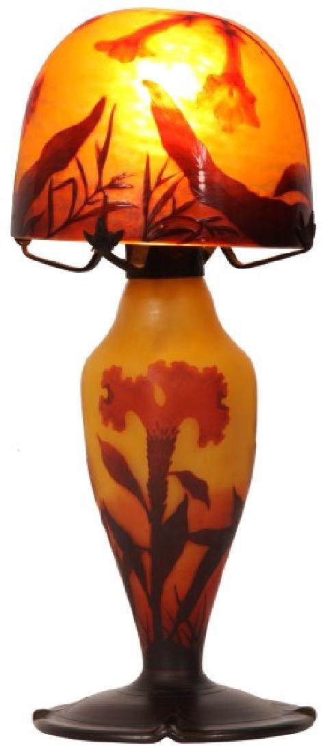 Daum Nancy Cameo Glass Lamp