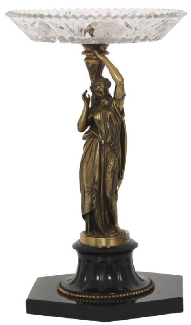 Signed Salmson Marble & Bronze Centerpiece