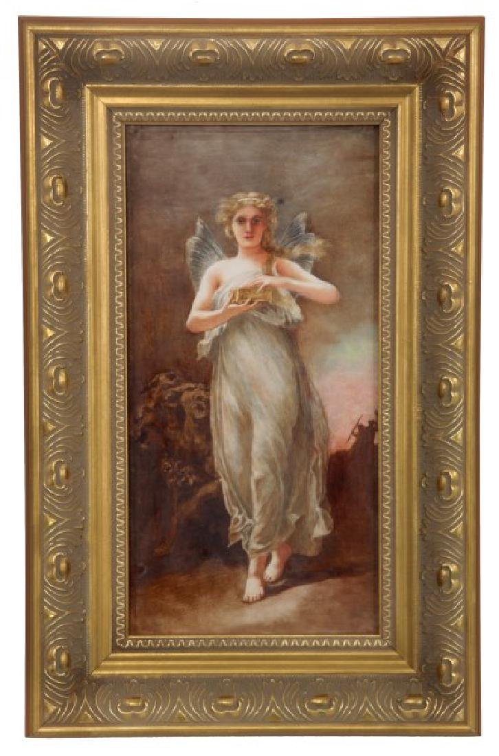 Hand Painted Porcelain Plaque – Pandora