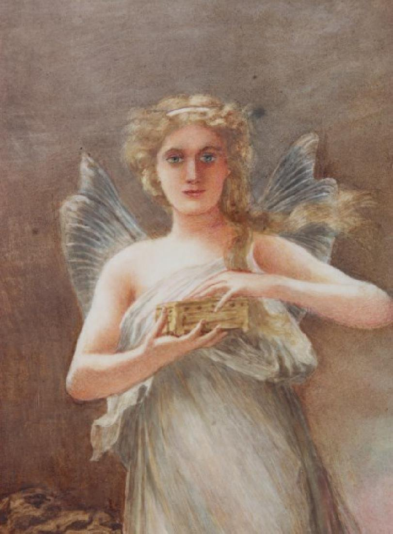 Hand Painted Porcelain Plaque – Pandora - 2