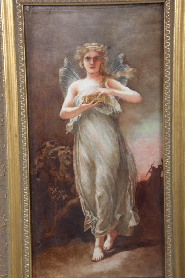 Hand Painted Porcelain Plaque – Pandora - 3