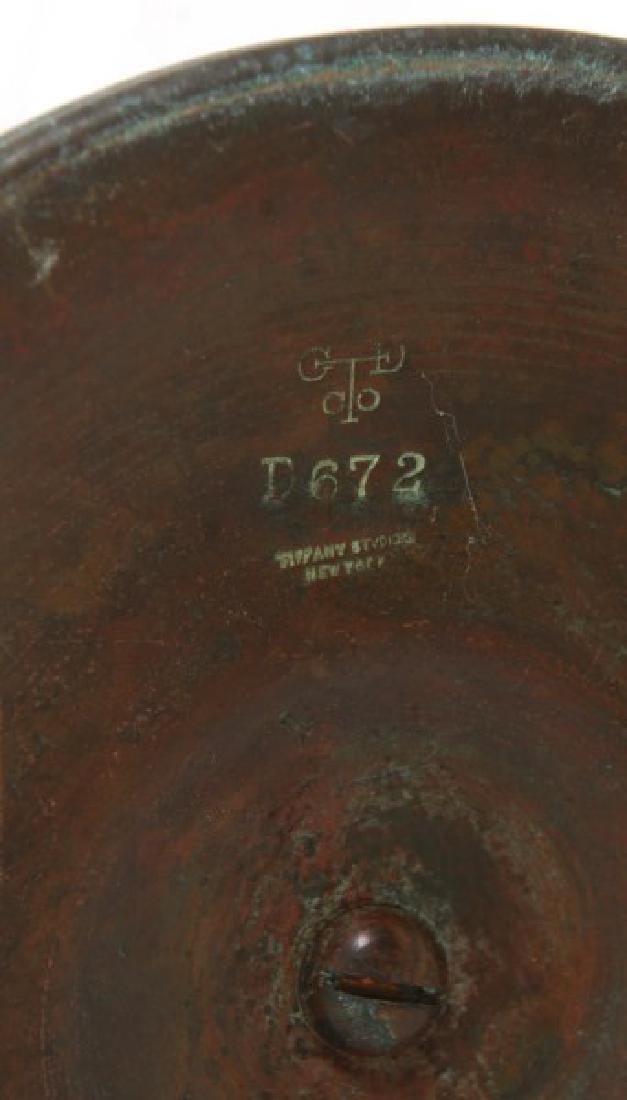 Tiffany Studios Bronze Desk Lamp Base - 7