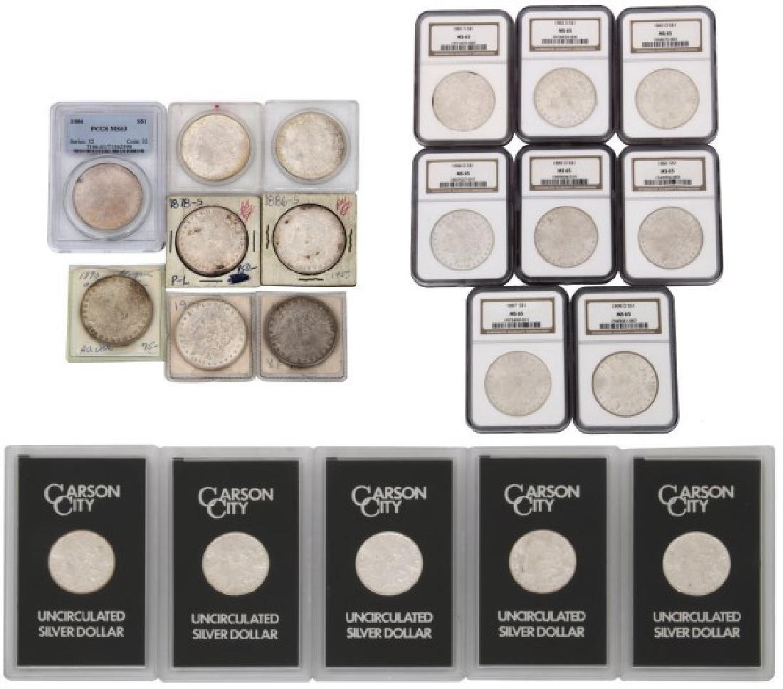 21 Morgan Silver Dollars