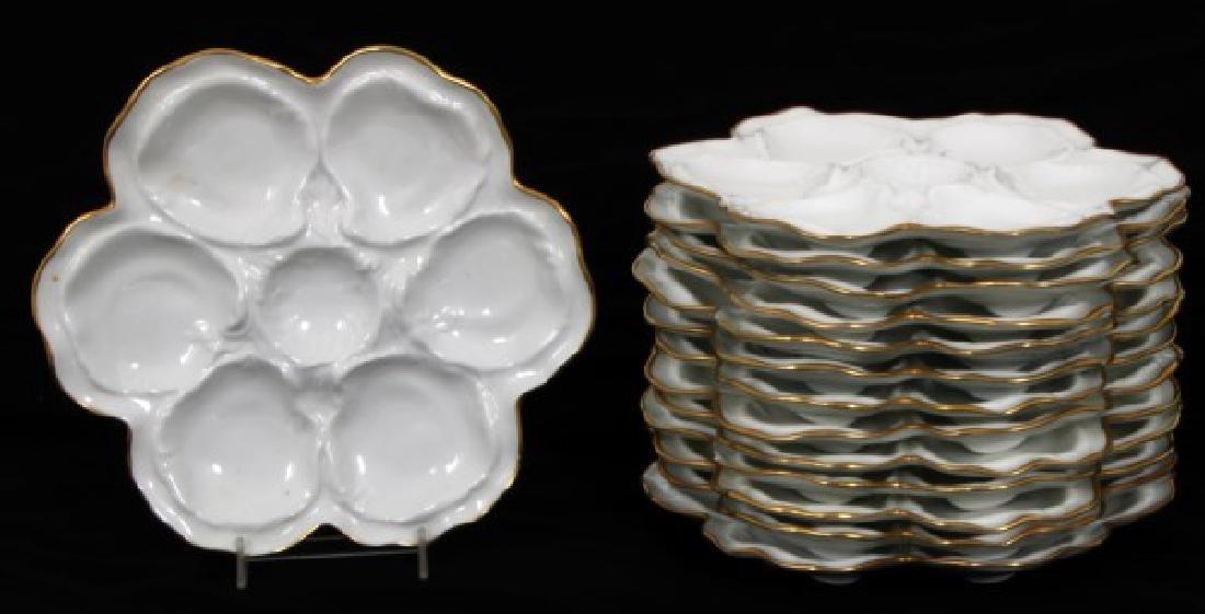 14 Limoges Porcelain Oyster Plates