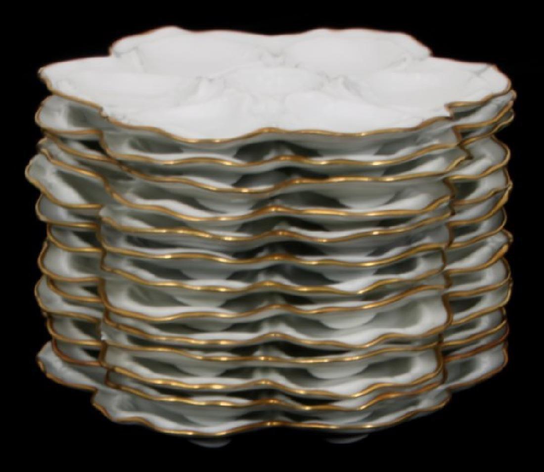 14 Limoges Porcelain Oyster Plates - 3