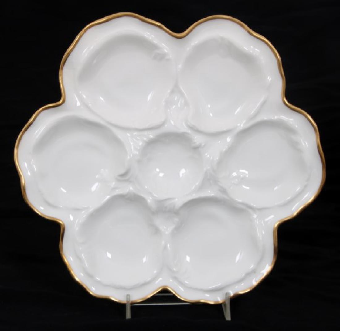 14 Limoges Porcelain Oyster Plates - 4