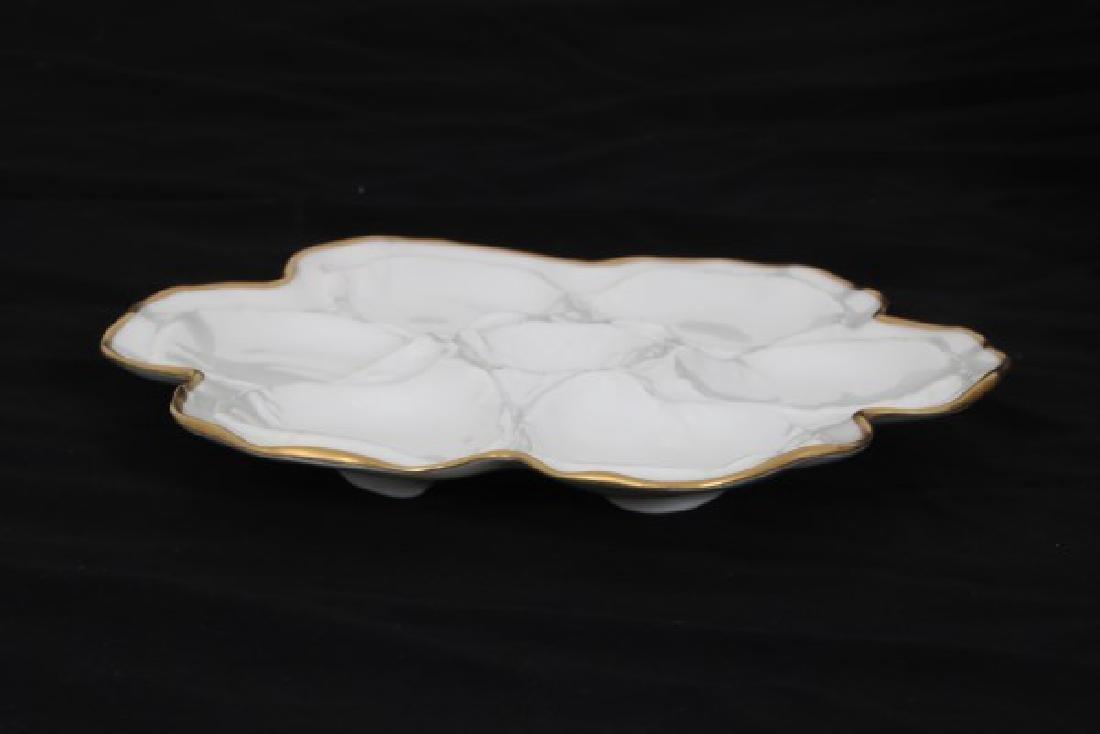 14 Limoges Porcelain Oyster Plates - 5