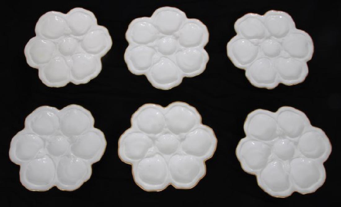 14 Limoges Porcelain Oyster Plates - 7