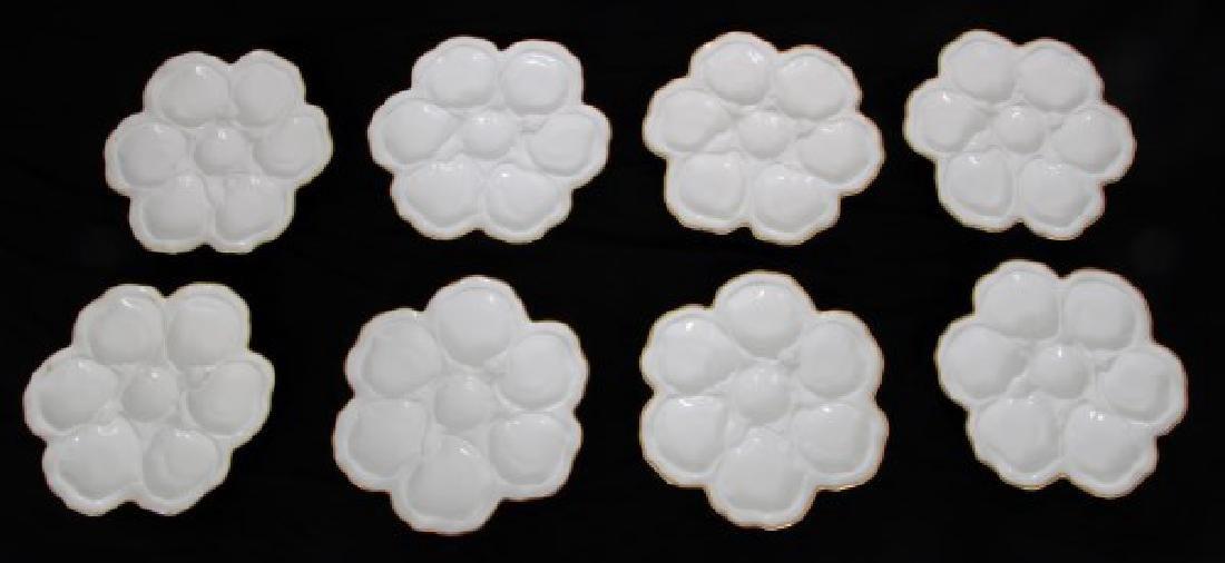 14 Limoges Porcelain Oyster Plates - 8