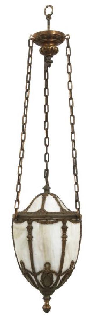 Bent Glass Pendant Hanging Hall Lamp