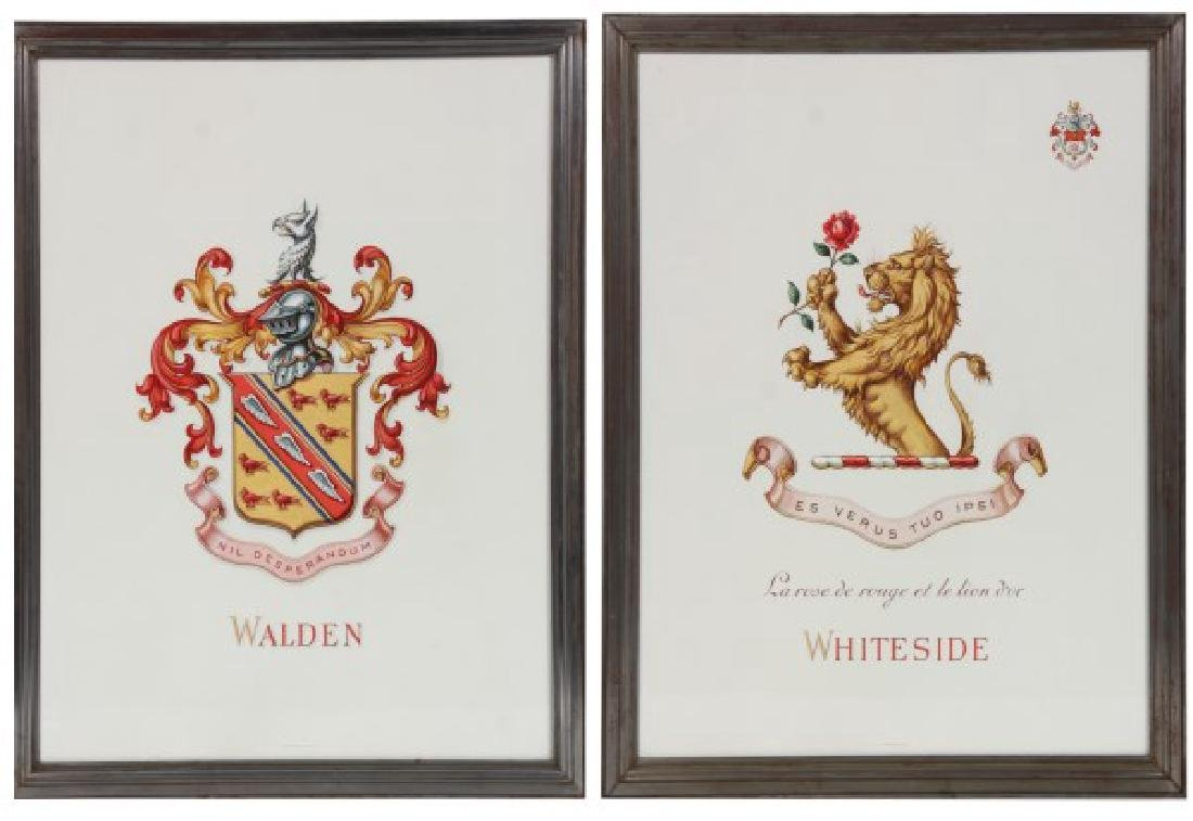 Pr. Hand Painted Tiffany & Co. Coat of Arms