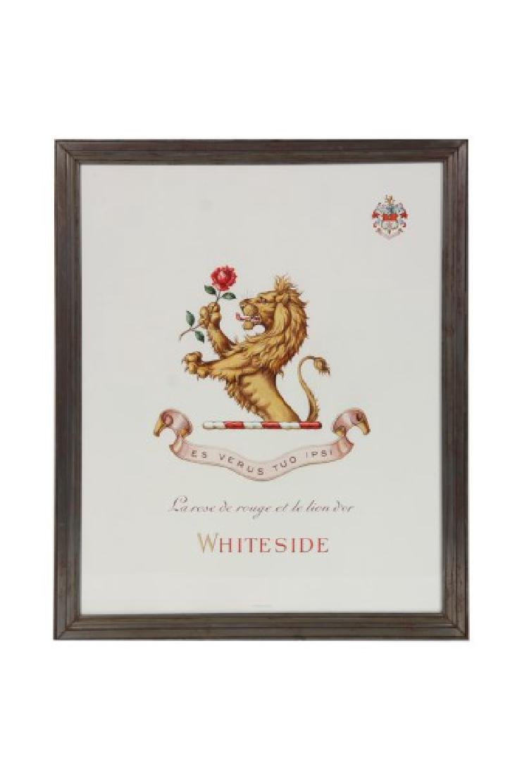 Pr. Hand Painted Tiffany & Co. Coat of Arms - 2