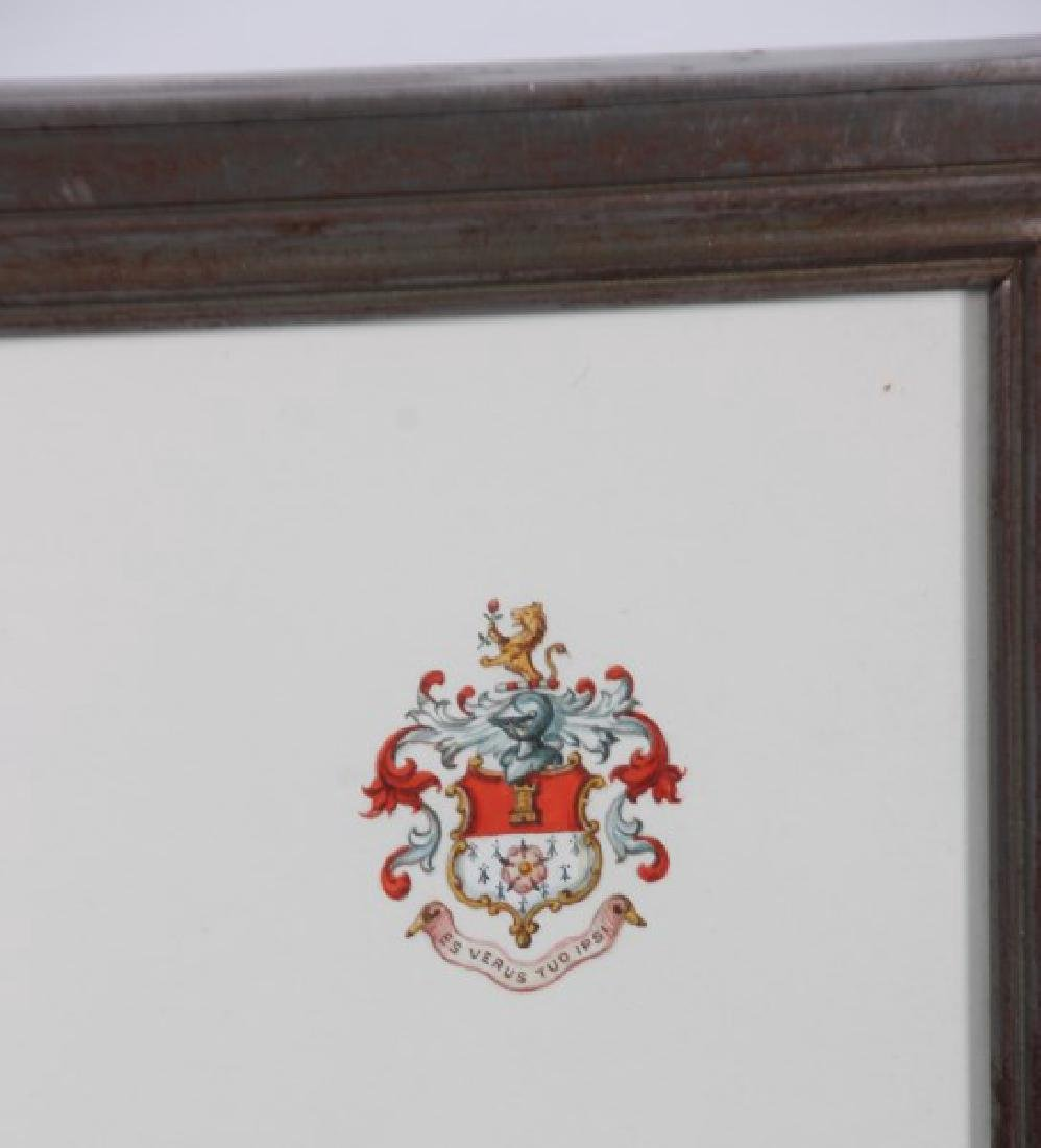 Pr. Hand Painted Tiffany & Co. Coat of Arms - 5