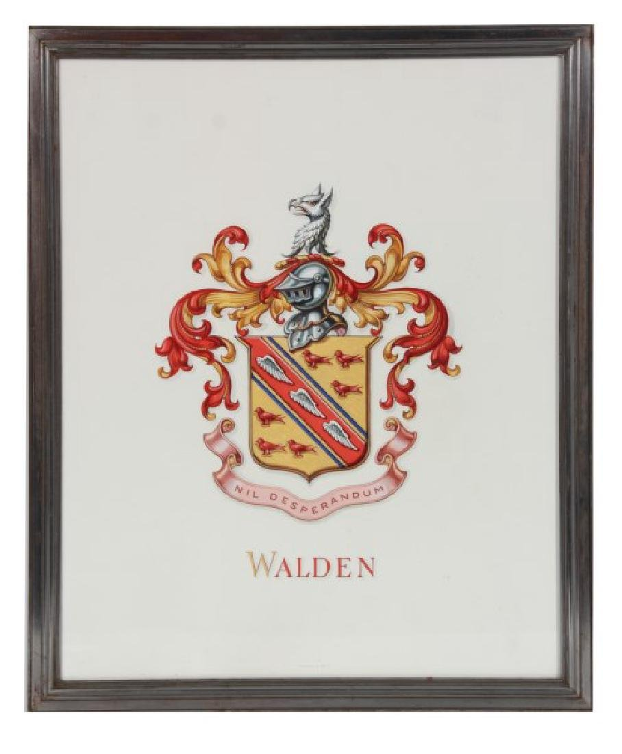 Pr. Hand Painted Tiffany & Co. Coat of Arms - 7