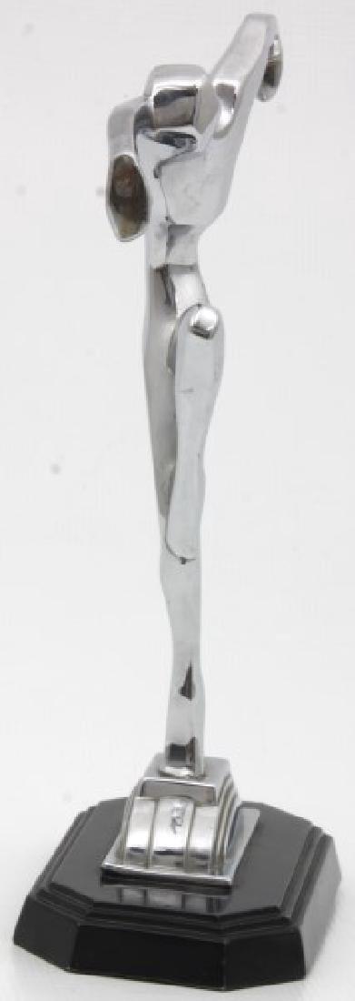 Ronson Chrome Deco Figural Dancer - 3