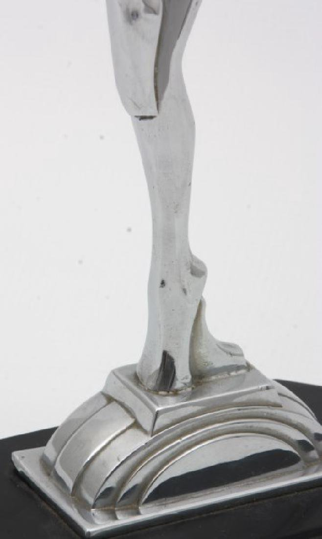Ronson Chrome Deco Figural Dancer - 6