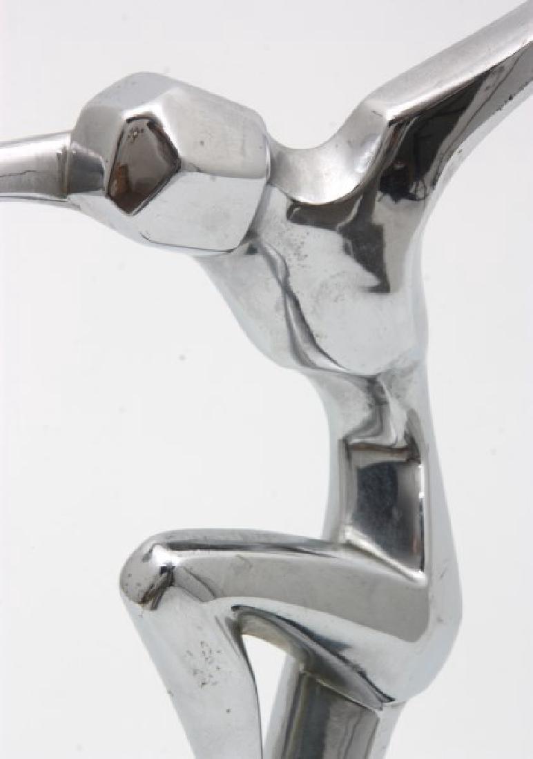 Ronson Chrome Deco Figural Dancer - 7