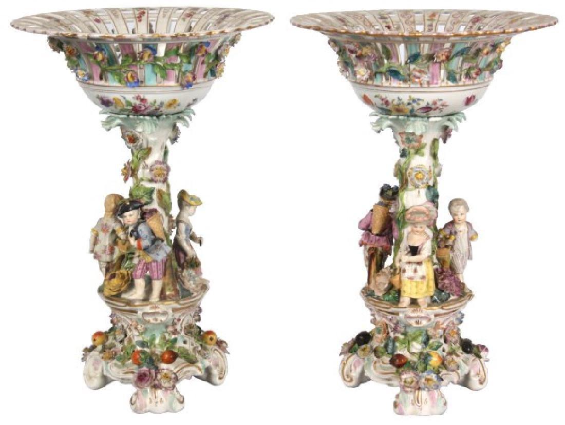 Pr. Meissen, Carl Thieme Porcelain Compotes