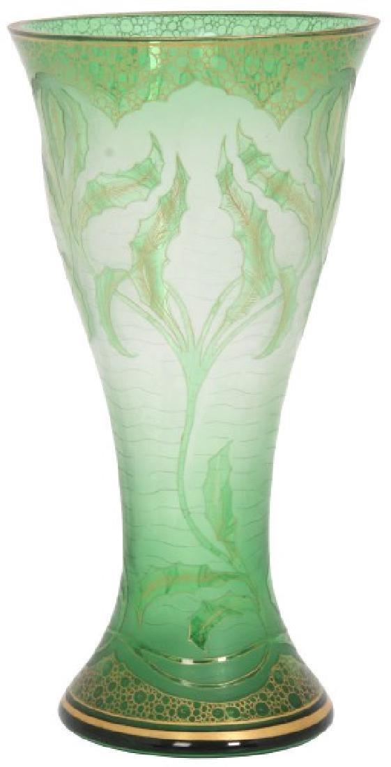 12 in. Honesdale Acid Cut Art Glass Vase
