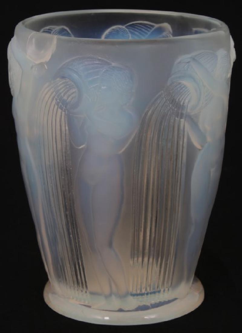 R. Lalique Opalescent Glass Vase - Danaides