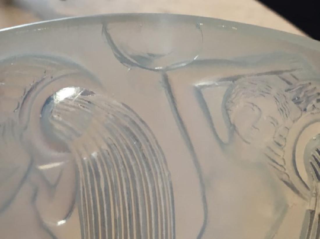 R. Lalique Opalescent Glass Vase - Danaides - 7