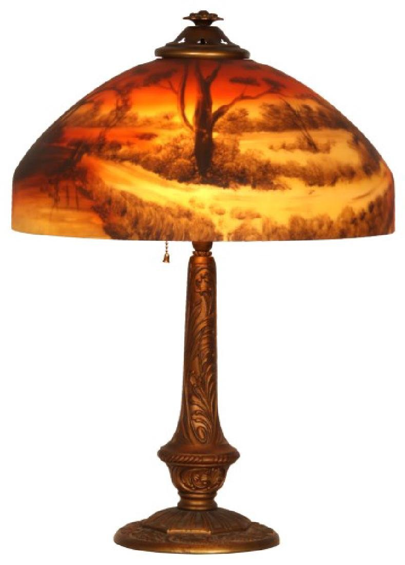 Phoenix Reverse Painted Table Lamp