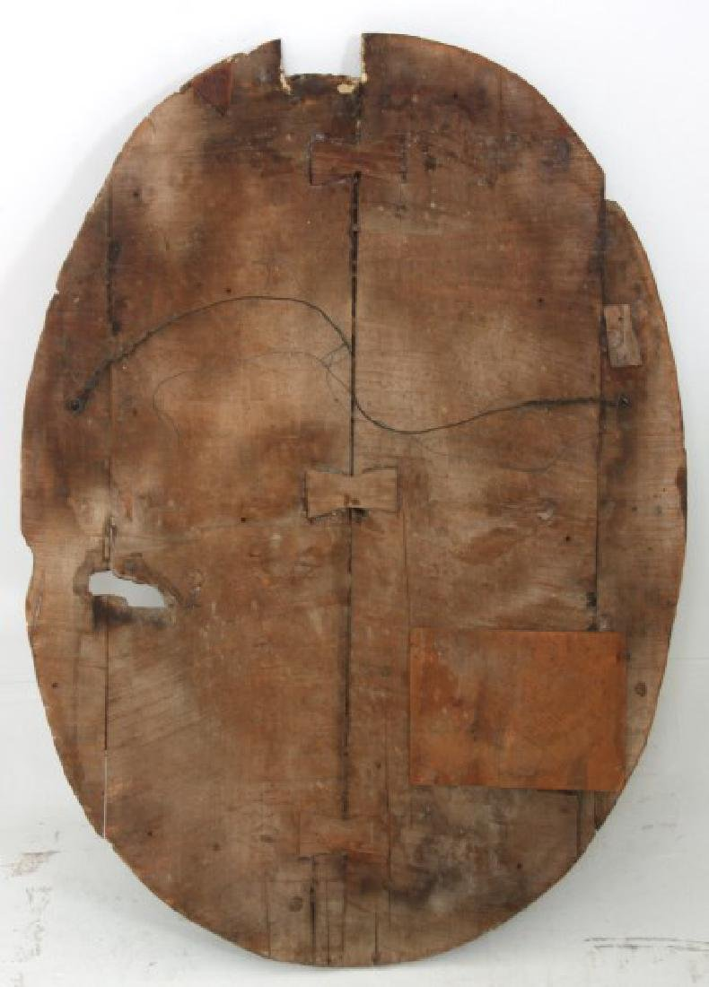 Large Carved Wood & Gesso Wall Plaque - 7