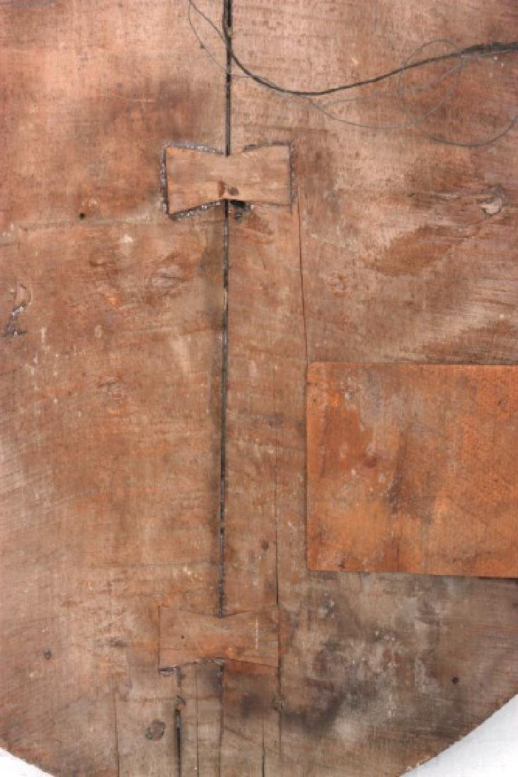 Large Carved Wood & Gesso Wall Plaque - 8