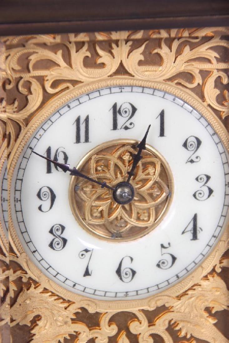 Brass Carriage Clock In Case - 10
