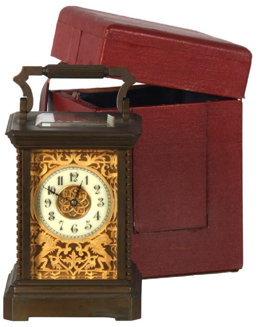 Brass Carriage Clock In Case