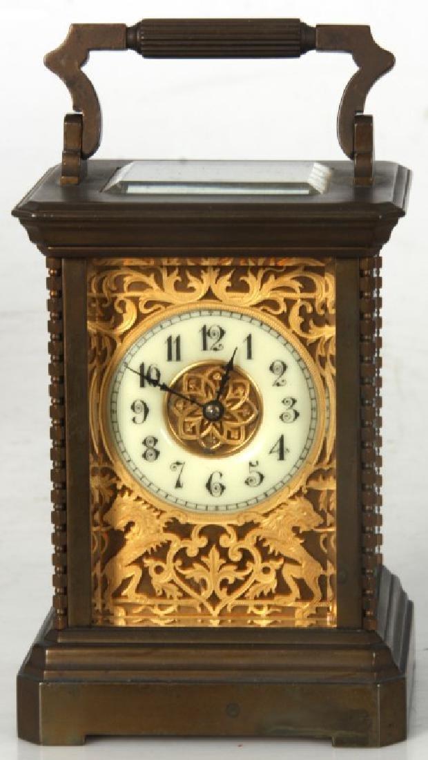 Brass Carriage Clock In Case - 2