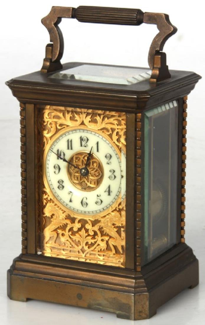 Brass Carriage Clock In Case - 3