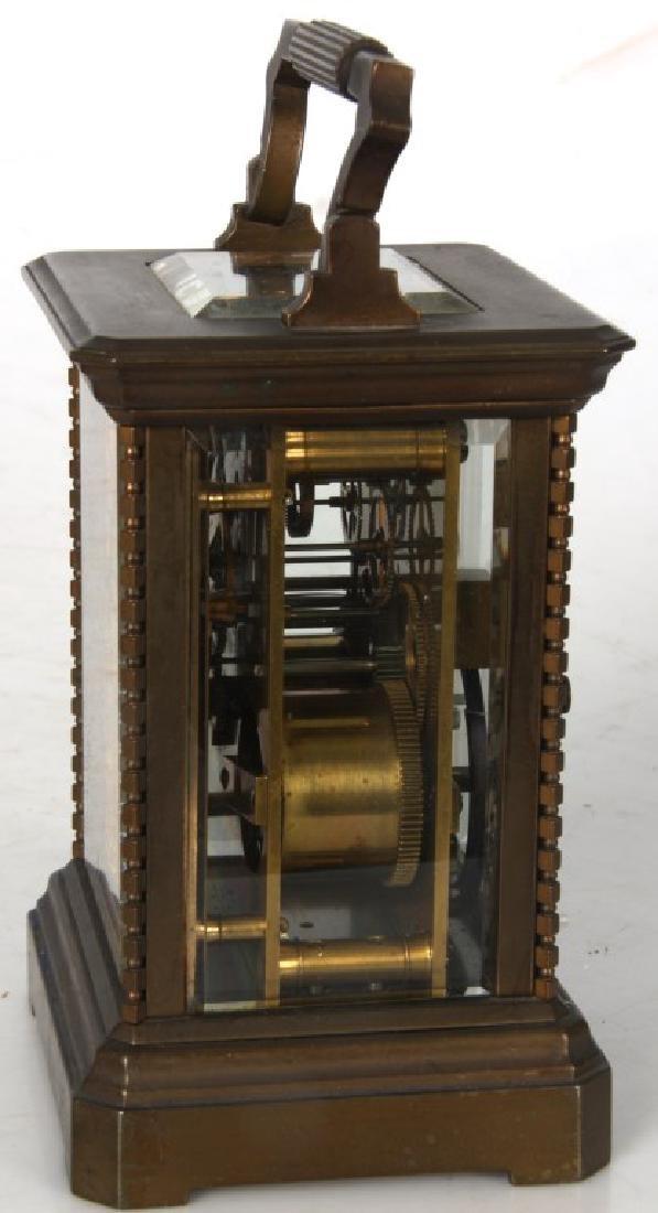 Brass Carriage Clock In Case - 4