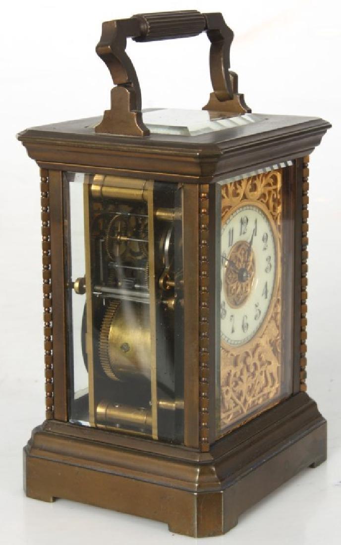 Brass Carriage Clock In Case - 8