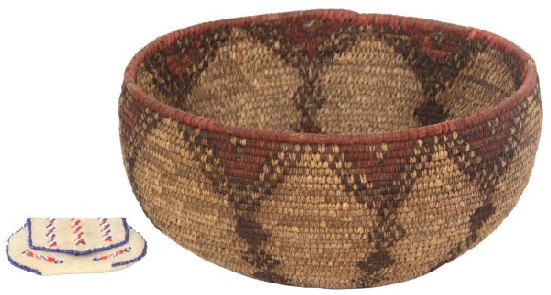 Indian Hand Woven Coil Basket & Pouch