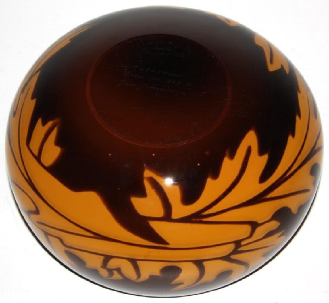 Orrefors Leaf Decorated Glass Bowl - 5