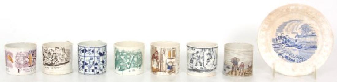 7 Children's Alphabet Cups & Plate