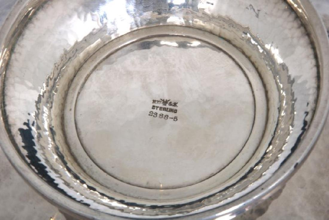 Wallace Arts & Crafts Sterling Silver Footed Bowl - 8