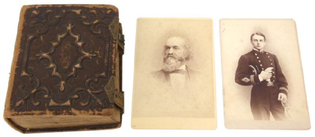 Civil War Era Leather Bound Photo Album