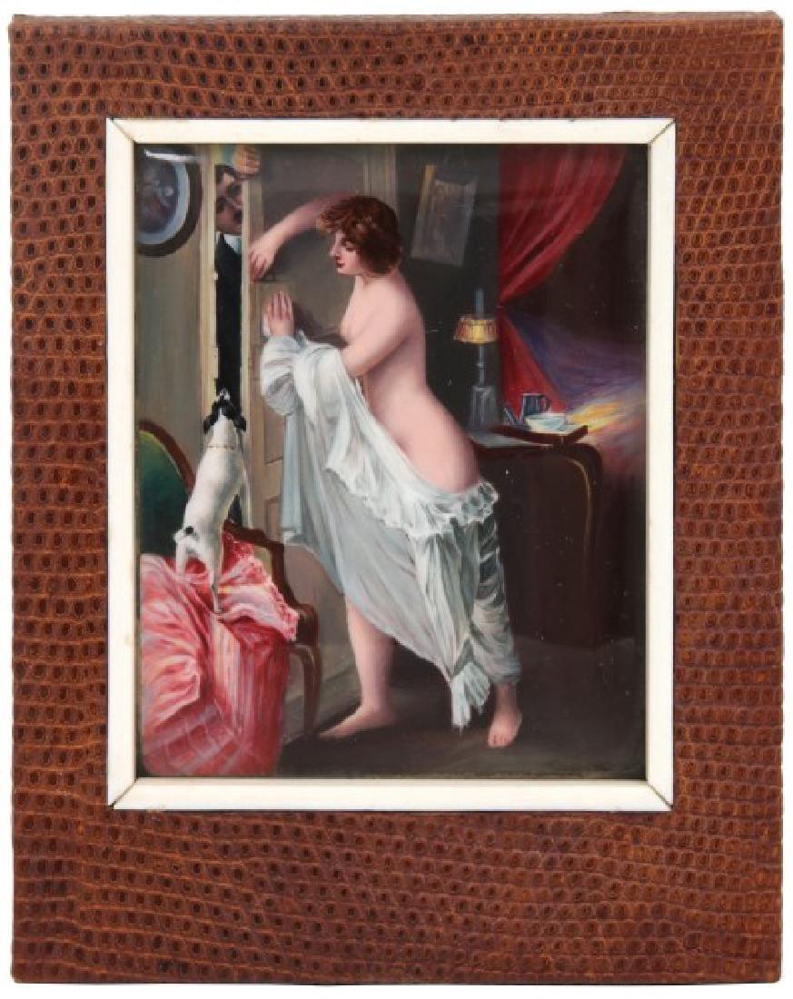 Nude Enamel Decorated Plaque