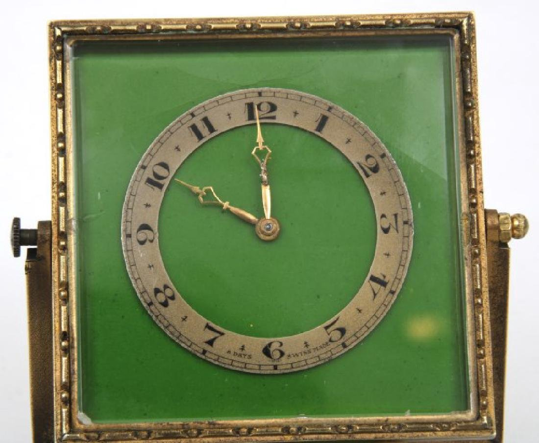 Bronze and Enamel Desk Clock - 5